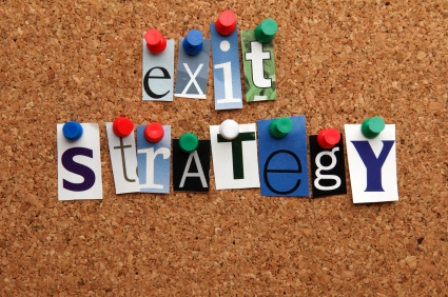Exit strategy pinned on noticeboard