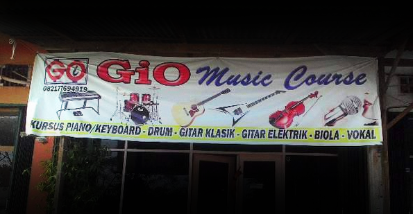 """""""Lets Enjoy to The Music Learning,""""  Bersama Gio Music Course."""