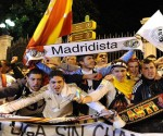 Real Madrid supporters celebrate in Madrid on May 02, 2012, after Real Madrid won the Spanish League. AFP PHOTO/ DANI POZODANI POZO/AFP/GettyImages