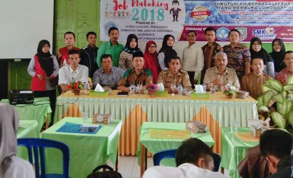 SMKN 3 Rejang Lebong Launching Job Matching