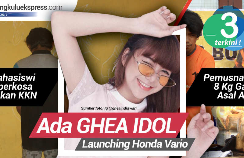 3 Terkini: Ada Ghea Idol di launching All New Honda Vario Bengkulu